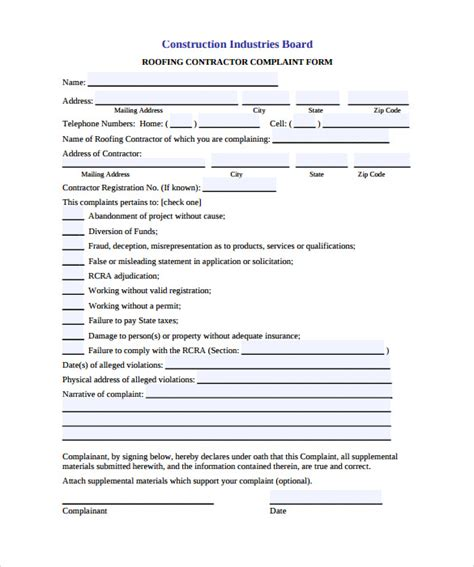 roofing contract template   documents