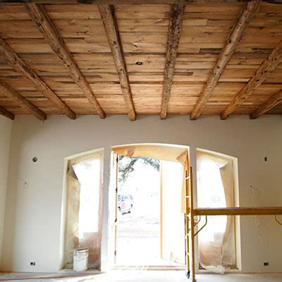 Texas Gardener Magazine by Idea House Preview Dining Room Ceiling Using Salvaged Wood In Architectural Details