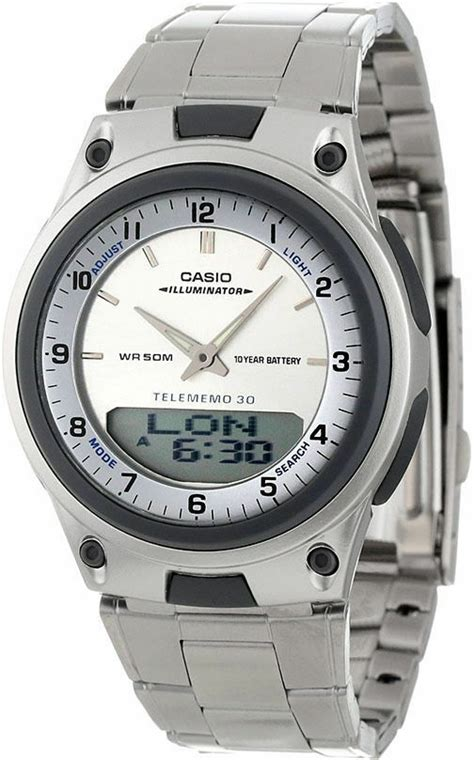 casio aw 80d original new white databank world time steel