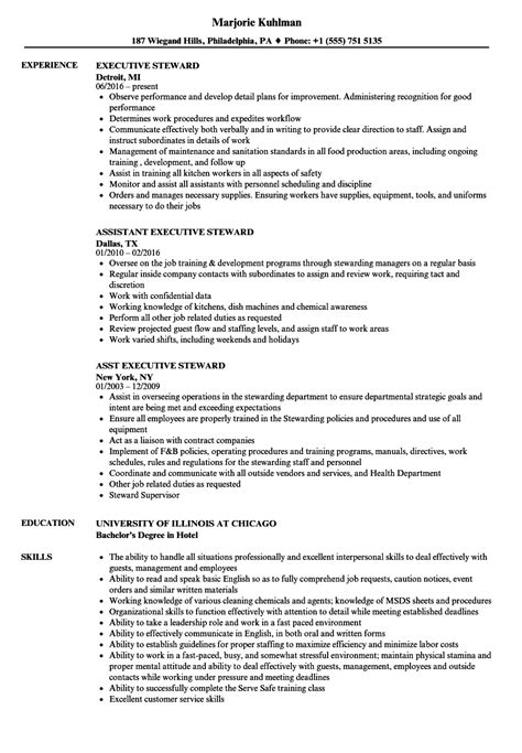 kitchen steward sample resume  resume ideas