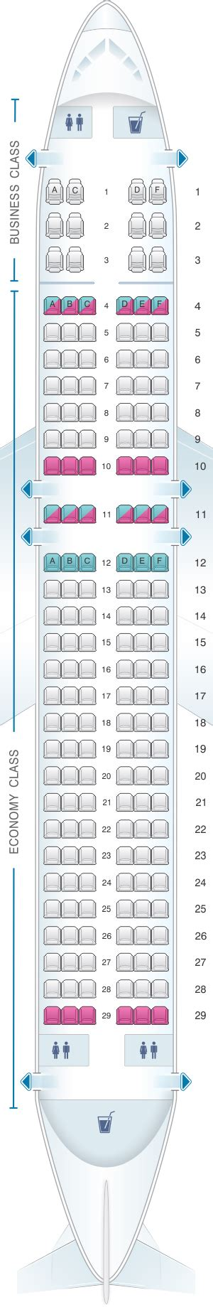 siege business air seat map brussels airlines airbus a320 seatmaestro