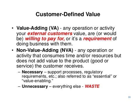 meaning of vas customer defined value value adding va
