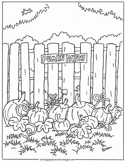Coloring Printable Pumpkin Patch Adron Mr Fall