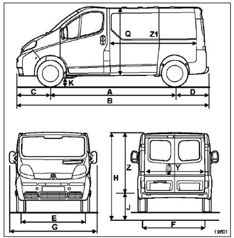 renault trafic dimensions revue technique automobile renault trafic dimensions