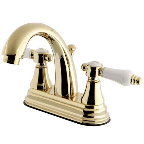 kingston brass english porcelain   centerset  handle