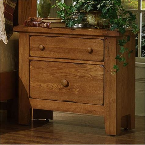 vaughan bassett furniture night table antique oak