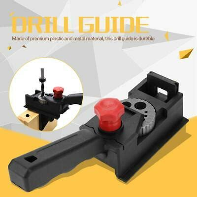 pcs straight hole drilling woodworking drill guide kit