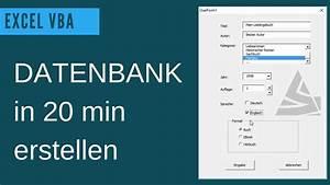 Excel Vba Datenbank Erstellen    Userform Grundlagen