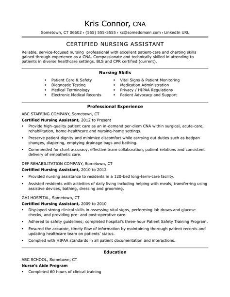 14092 cna resume exles cna resume templates health