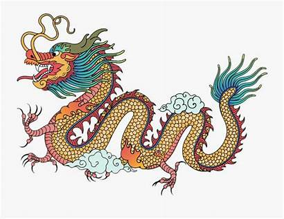 Dragon Chinese Animal Colorful Gravure Drawing Gravura
