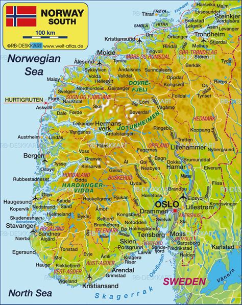 map  south norway norway travel scandanavian