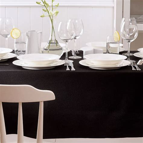 table cloth setting create sophisticated drama with a black tablecloth