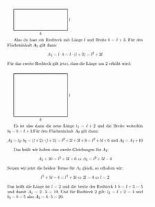 Kennzeichen Länge Berechnen : suche seitenl nge der rechtecke in einem rechteck ist die breite um 3 cm l nger als die l nge ~ Themetempest.com Abrechnung