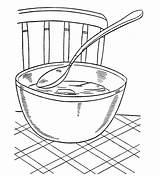 Coloring Soup Pages Popular Coloringhome sketch template