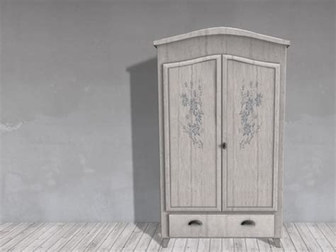 painting wardrobes shabby chic second life marketplace dutchie mesh shabby chic white bedroom wardrobe with blue flowers