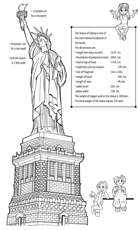 statue  liberty activities worksheets earthcam   statue  liberty activities