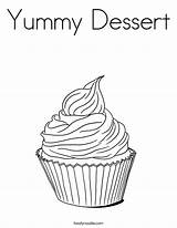 Coloring Dessert Cupcakes Cupcake Yummy Mini Twistynoodle Colour Trending Days Last Books sketch template