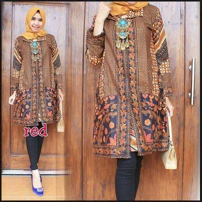 model baju batik terbaru remaja hijab   model