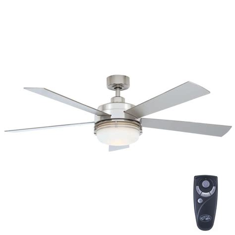 home depot ceiling fans hton bay sussex ii 52 in indoor brushed nickel ceiling