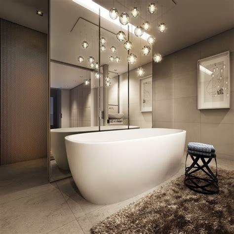 astonishing pendant lights   luxury bathroom