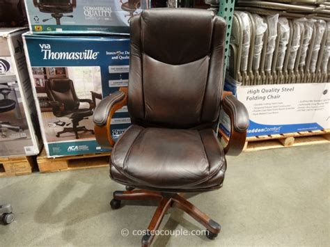 true innovations executive brown leather chair