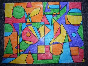 Art with shapes | Crafts | Pinterest | School, Math and ...