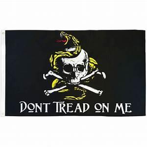 X Light Led Glow Pro Don 39 T Tread On Me Skull Crossbones 3 39 X 5 39 Flag F 1617