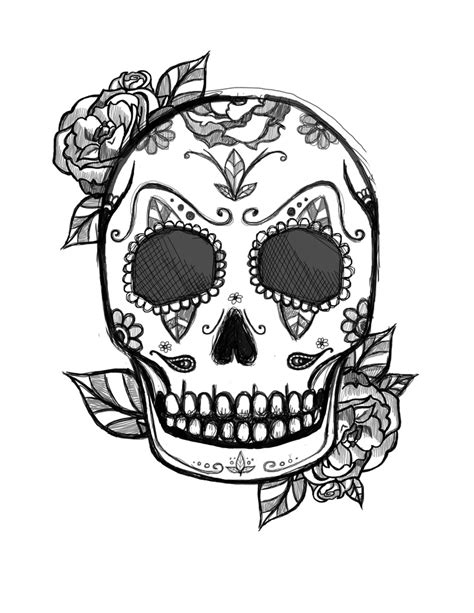 mexican skull tattoo design   Skull coloring pages, Skull tattoo design, Unique tattoo designs