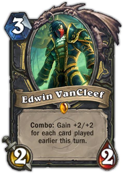 edwin vancleef deck budget edwin vancleef hearthstone card database gosugamers