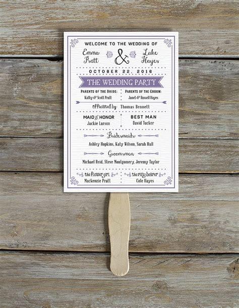 purple themed program  printable wedding program