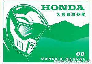 2000 Honda Xr650r Motorcycle Owners Manual