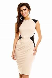 Robe tendance et fashion chic beige pas cher robe de for Robe tendance pas cher