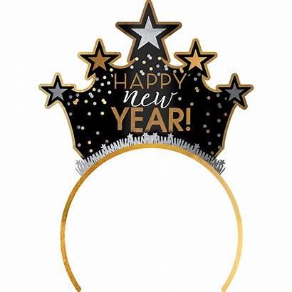 Happy Gold Eve Headband Tiara Silver Hats