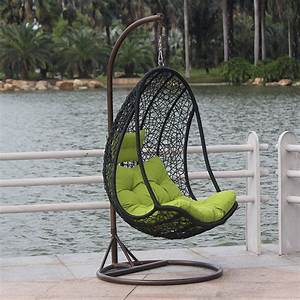 Egg chair rattan hanging basket swing indoor outdoor for Katzennetz balkon mit garden egg chair