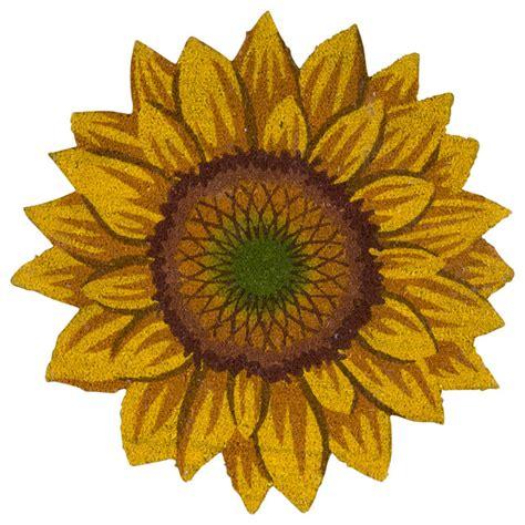 Sunflower Doormat mina victory outdoor sunflower coir mat doormat yellow 30
