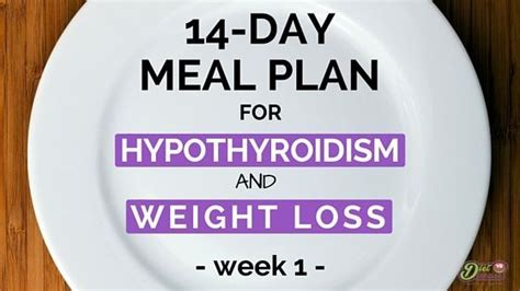 day meal plan  hypothyroidism  weight loss
