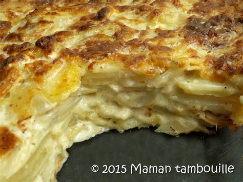 plat cuisiné au four gratin de topinambours maman tambouille