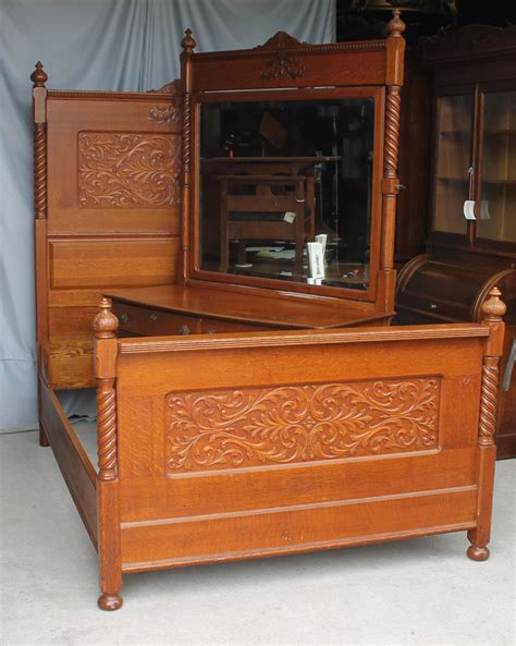 Bargain John's Antiques  Antique Carved Oak Bedroom Set