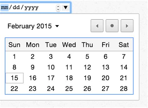 Datepicker Html Template by Css Styling The Calendar For Html5 Native Datepicker