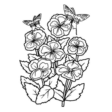 Kleurplaat Lentebloemen Volwassenen by Leuk Voor Bloemen Met Vlinders