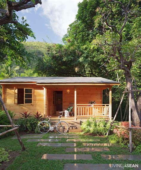a lovely ready made wood cabin living asean