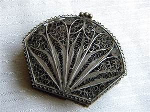 Antique Fine Rare Sterling Silver Rosary Box Filigree 18th