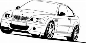 BMW clipart vector graphic - Pencil and in color bmw ...
