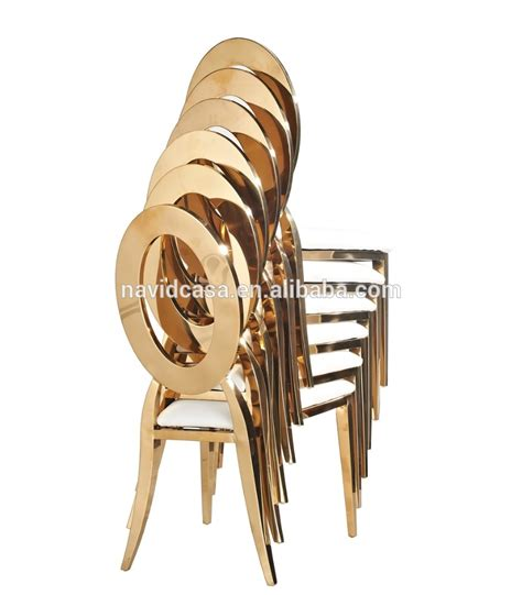 b8030 congling stackable bulk chairs gold wholesale white