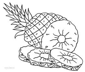 Printable Pineapple Coloring Page