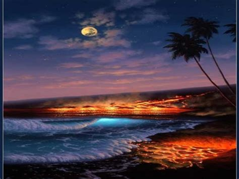lava night forces  nature nature background