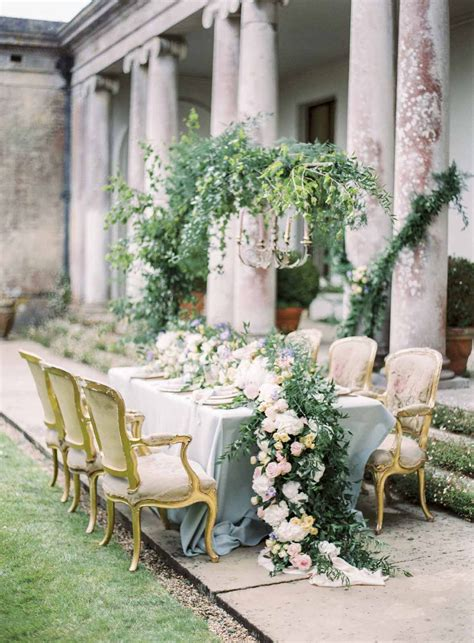 Faded Romance Somerley House Wedding Country garden