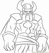 Coloring Heimdall Pages Squad Hero Super Coloringpages101 Cartoon sketch template