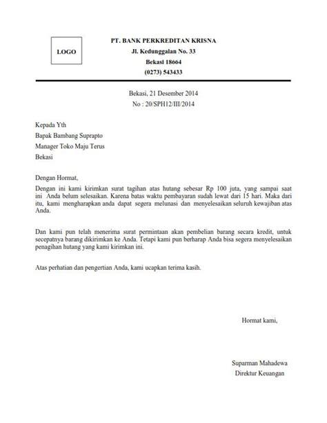 contoh surat penagihan pembayaran barang