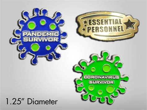 Coronavirus Survivor Enamel Pin - Geekify Inc
